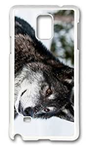 Adorable Gray Wolf Hard Case Protective Shell Cell Phone For Case Ipod Touch 4 Cover - PC White