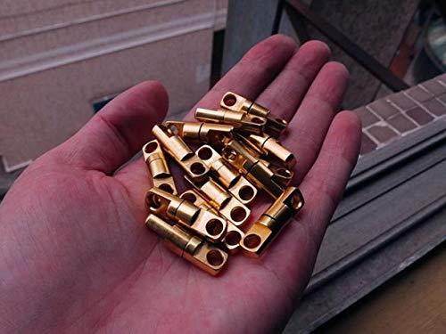 Brass Solid Swivel (WellieSTR 10-Pack (5mm) Solid Brass Swivel Eye Rotating Connector Craft Hardware Swivel Connector Link for DIY Handbag)