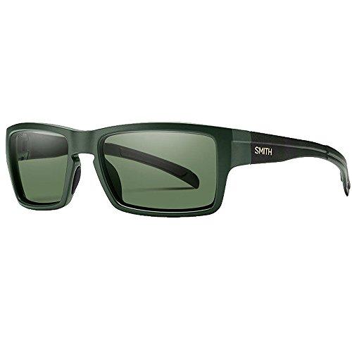 Smith Optics Mens Outlier Sunglasses Matte Olive Camo/Chromapop Polarized Gray - Glasses Smith Mens