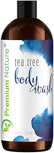 - Tea Tree Body Wash Antibacterial - Antifungal Bodywash Tee Tree Essential Oil Soap Cleanser All Natural 100% Pure Shower Gel - Jock Itch Defense Acne Athletes Foot Odor Eczema Ringworm Treatment