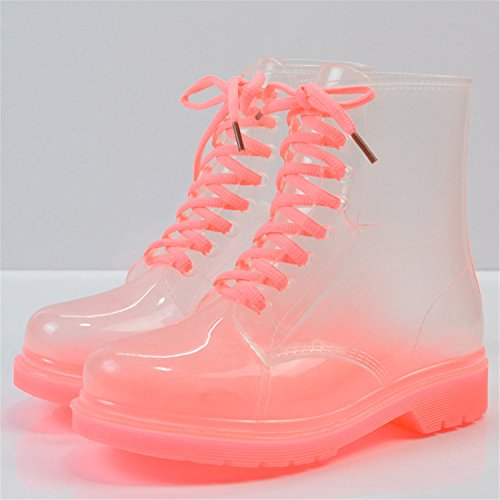 Rainboot Ankle Spring Shoes Autumn Woman Transparent Blue Waterproof Women Boots Desirca Rainboots wxpOnzq0BI