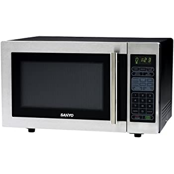 Amazon Com Sanyo Em S6588s 1 Cubic Foot Microwave Oven