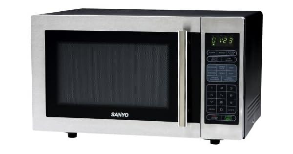 Amazon.com: Sanyo em-s6588s 1-cubic-foot Horno de microondas ...