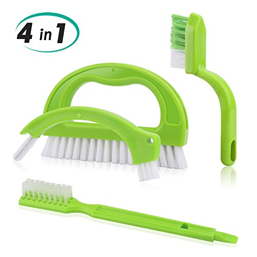Transmission Piece 4 (Alcoon 4 in 1 Tile Grout Cleaning Brush Tile Joint Scrubber Cleaner Brush for Deep Cleaning Floors Wall Bathroom Kitchen - Green)