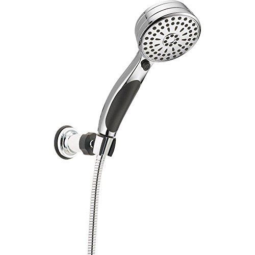 Delta Faucet 9-Spray Touch-Clean Wall-Mount Hand Held Shower with Hose, Chrome 55424