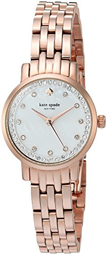- kate spade new york Women's 'Mini Monterey' Quartz Stainless Steel Casual Watch, Color:Rose Gold-Toned (Model: KSW1243)