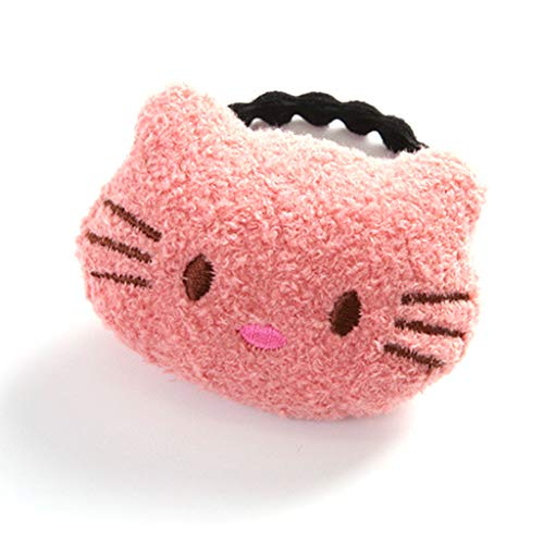 RingBuu Hair Rope 14 Styles Sweet Girls Rubber Band Plush Velvet Toy Hair Rope Cute Cartoon Bear Cat Cloud Doll Cloth Craft Ponytail Holder ()