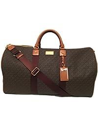 159d727de9af Michael Kors Leather Travel Logo Duffle Large Bag Printed Duffel Luggage