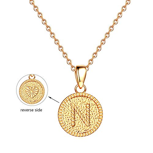 N Initial Necklace Gifts for Women - 14K Gold Filled Gifts for Girls Letter Initial Necklaces for Women Girls Kids, Initial Alphabet Monogram Necklace Jewelry Best Birthday Gifts for Women Girls Kids (Name For Christian Baby Boy With Meaning)