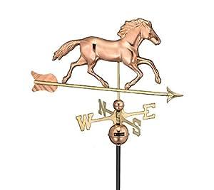 Buenas direcciones Smithsonian Running caballo Weathervane