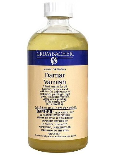 (Grumbacher Damar Final Varnish for Oil Paintings, 2-1/2 Oz. Jar, #5692 by Grumbacher)