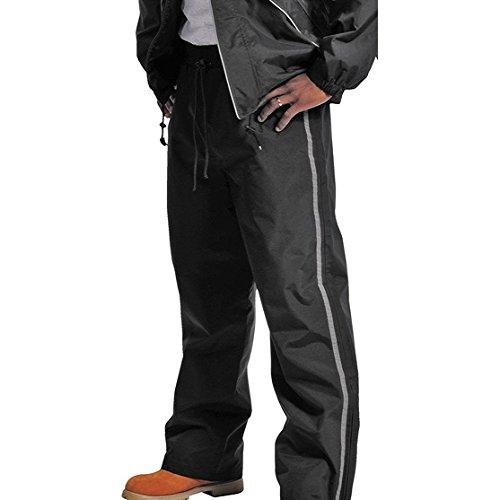 Galeton 12258-XL-BK 12258 Repel Rainwear Rain Pants with Reflective Piping, Black, X-Large