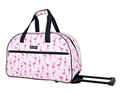 Make the most out of your next trip with our top-rated suitcases Betsey Johnson Wheeled Duffel Bag is designed to comfortably fit most overhead bins and carry your essentials with easy mobility through the airport.  This fashion forward rolli...