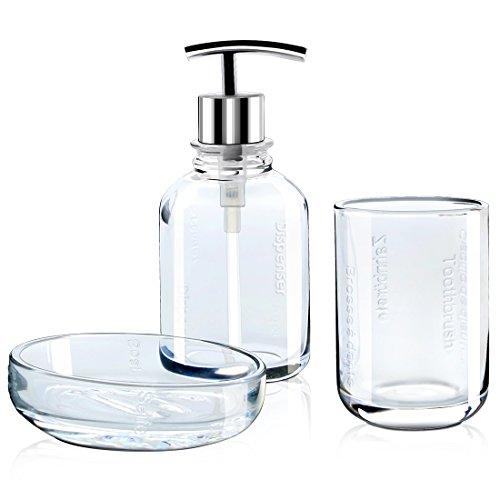 Cuarto de baño Set de accesorios para 3 piezas incluye dispensador de jabón aa2fbe371fee