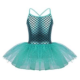 MSemis Vestido Princesa Sirena Disfraz Sirenita para Niñas Maillot ...