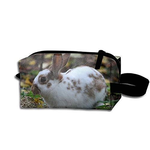 scakoko Domestic Rabbit Pencil Pen Case Portable Cosmetic Makeup Bag Durable