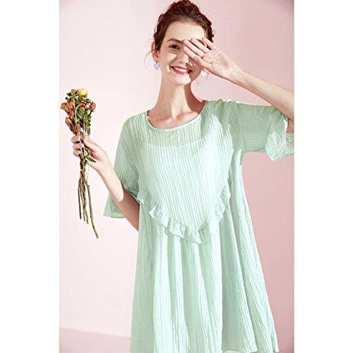 Une Jupe Femme Longue Enfants Clair Jupe Taille Robe lache Vert Taille Robes L Mousseline MiGMV wRqBtg