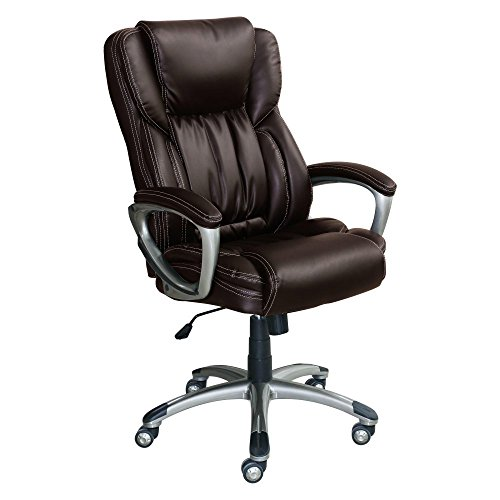 Highest Rated Top Selling Best Big Tall Executive Office Chair Bonded Leather 250lb Capacity Over-Sized- Contemporary Adjustable Beautiful Extra Comfortable Multiple Adjustments- Lumbar Support- Black
