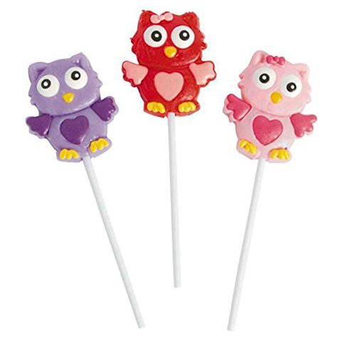 Frosted Valentine Owl Lollipops - Cute - Great For Party's, Gift Individually (Valentine Lollipop)