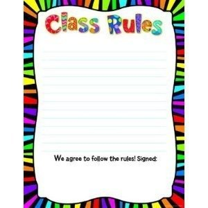 Creative Teaching Press Poppin' Patterns Class Rules Poster Chart (6422)