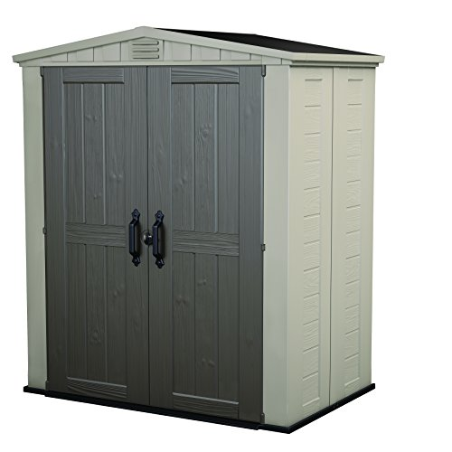 Keter Factor Large 6 x 3 ft. Resin Outdoor Backyard Garden Storage Shed (Factor 6)