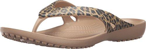 Crocs Women's Kadee II Leopard Print Flip Flop, Gold, 10 M US ()