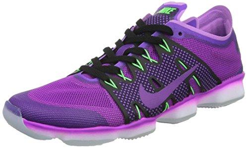 Nike Femmes Air Zoom Ajustement Agilité 2 Chaussure De Course Haute Cheville Vif Violet / Vif Violet-fuchsia Lueur-volt