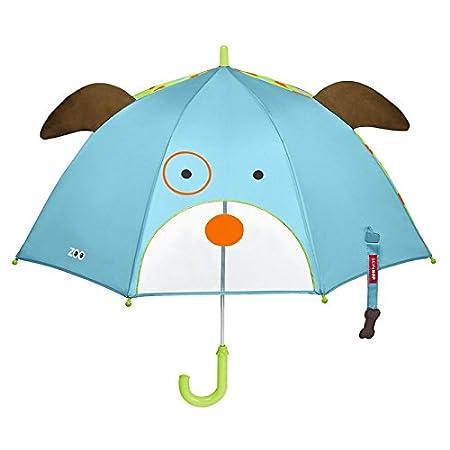Skip Hop Zoo Regenschirm, für Kinder, mit Sichtfenster und 3D-Ohren, mehrfarbig, Giraffe Jules für Kinder 235805