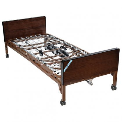 """Drive Medical Ultra Light Plus Full-Electric Low Bed, Brown, 36"""""""