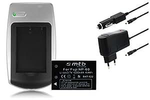 Batería + Cargador para Fuji NP-60, Casio NP-30, Drift, Kodak KLIC-5000, Pentax D-Li2... (ver lista!)