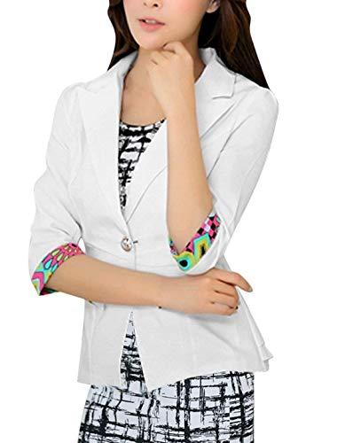 Tailleur Blazer Donna Hipster Giaccone Bianca Autunno Bavero Da Chic Eleganti Business 4 Cappotto Manica Slim 3 Giacche Comodo Moda Con Button Primaverile Fit Colori Giacca Misti pP4qgdr0P