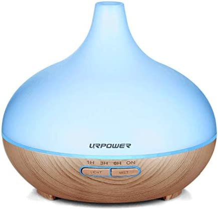 Urpower 3 In 1 Ultrasonic Aroma Essential Oil Diffuser & Cool Mist Humidifier With Adjustable Mist Mode and 7 Changing Mood Lights 100 ML (Upgraded