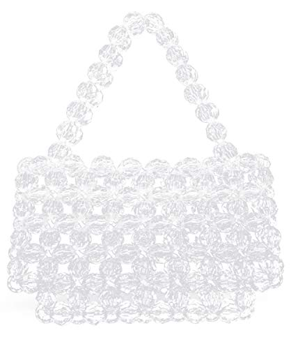 Miuco Women Beaded Bag Handmade Transparent Acrylic Handbags (Polygonal transparency)