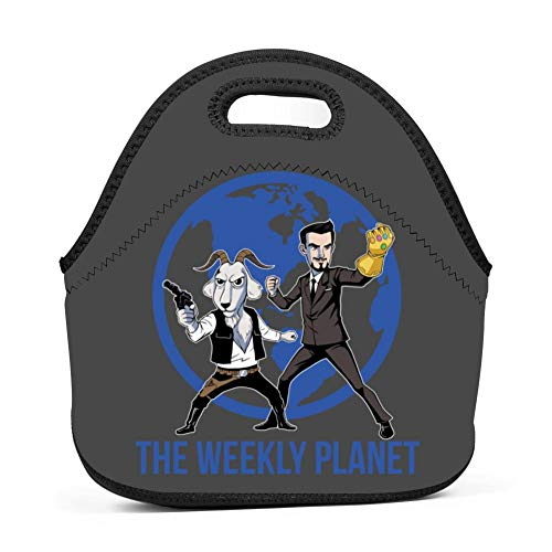 VSHFGC Neoprene Lunch Tote Bag The Weekly Planet Thick Insulated Cooler Lunch Bag Portable Lunchbox Outdoor School Work Handbag for Men Women Boys Girls