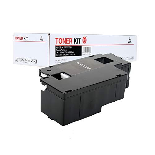 ZQL E525W E525 525 Compatible Toner Cartridge Replacement (1 Black) For Dell E525W E525 525W Used with Dell Color Laser E525W Printer