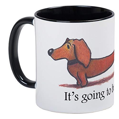 Long Day Dachshund Mug - Ceramic RINGER 11oz Coffee/Tea Cup Gift Stocking - Ringer Dachshund