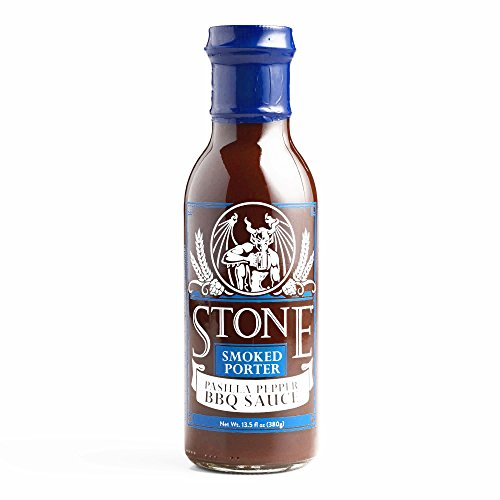 Stone Brewing Company Porter & Pasilla Pepper Barbecue Sauce 12 oz each (2 Items Per Order, not per case) (Sauce Dipping Chocolate)