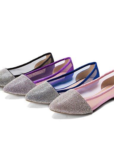 Flats black us6 de sintético PDX mujer eu36 de zapatos Ballerina talón cn36 boda Casual uk4 Tulle plano qx7O7zw