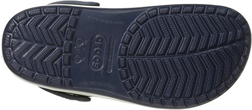 crocs Unisex Crocband Clog, Navy/Citrus, 4 US Men / 6 US Women 11016