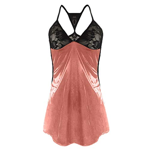 - TOTOD Lingerie Women's Sexy Front Closure Babydoll Lace Chemise V Neck Mesh Pajamas Sleepwear