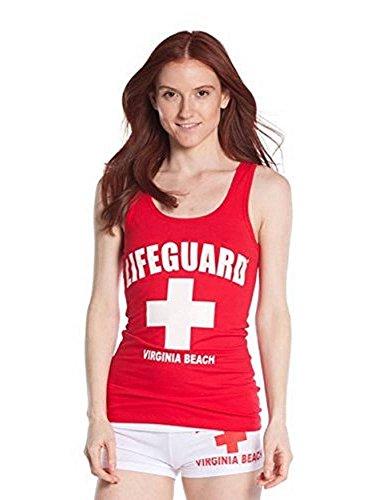 LIFEGUARD Official Girls Printed Tank Top Red (Lifeguard Tank)