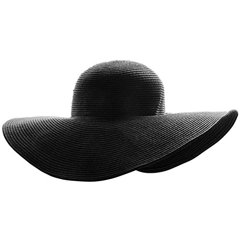 Ayliss Women Floppy Derby Hat Wide Large Brim Beach Straw Sun -