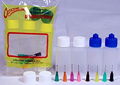 Creative Hobbies® Multi Purpose Precision Applicator Super Assortment Set with Four 1 Oz Bottles and 8 Tip Sizes