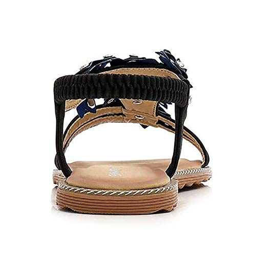 white Sandali Shangxian Alla Black Caviglia 43 Cinturino Donna Open Infradito Estate Spiaggia Toe Pantofole Ballerine AEqwqF7