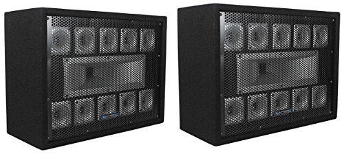 (2) Technical Pro TW110 1000 Watt Carpeted 11-Way DJ Tweeter Box Array System by Technical Pro