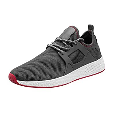 Kundork Mens Volleyball Shoes Casual Walking Sneakers Fashion Workout Athletic Shoe for Men Running Sport Aerobics Gray 40
