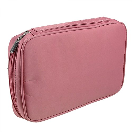 Elisona-Multi-functional-Zipper-Makeup-Brush-Storage-Bag-Cosmetic-Pouch-Case-for-Travel-Home-Use-Pink