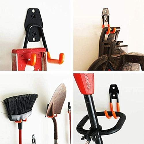 Balkon schwarz Aufbewahrungshaken Halter f/ür Stuhl robust Aufbewahrung Wandhalterung Leiter Doppelhaken Garage Metallhaken f/ür Lager