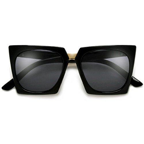 Moden Square Frame Angular CatEye Sunglasses (Black, - Sunglasses Angular