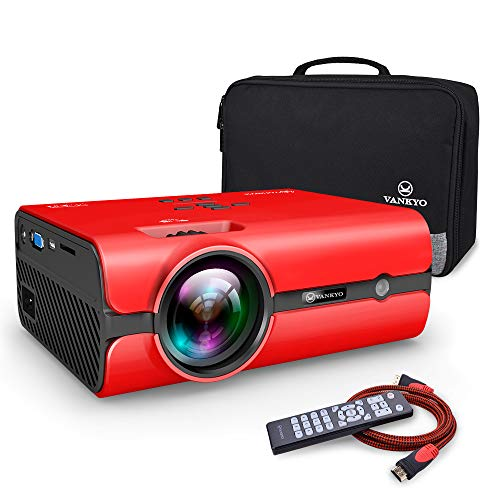(VANKYO Portable Projector, Support HD 1080P, Mini Projector with USB/SD/AV/HDMI/VGA Input. Come with Free Carrying Bag and HDMI Cable)